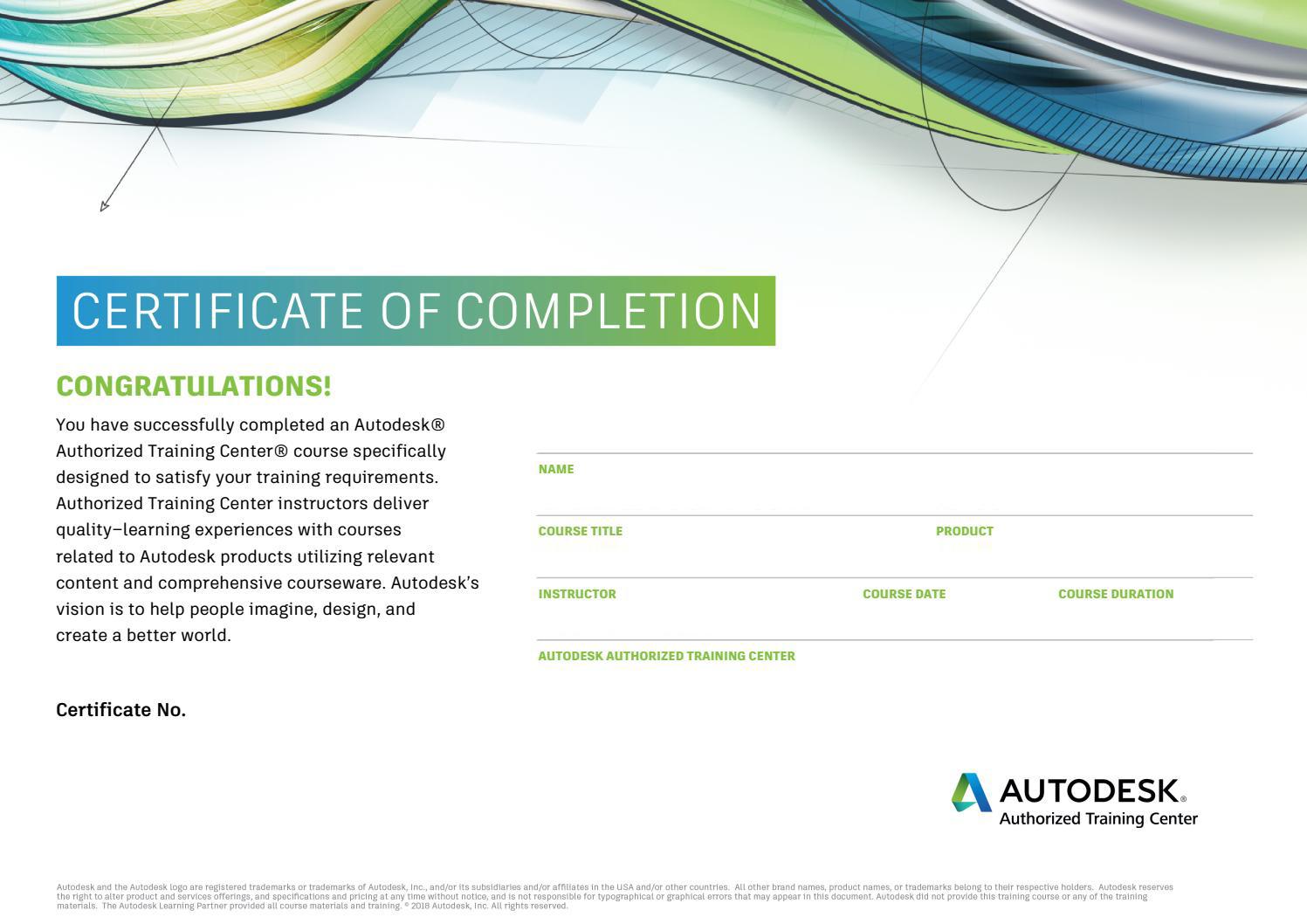Certificato Autodesk Volcano High